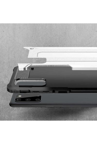 HerBütçeye Xiaomi Redmi 8 Çift Katmanlı Tam Koruma Crash Silikon Kılıf + Maxi Glass Ekran Koruyucu - Kırmızı