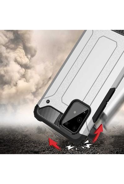 HerBütçeye Samsung Galaxy J8 Çift Katmanlı Tam Koruma Crash Silikon Kılıf - Siyah