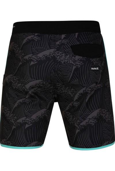 Hurley M Phtm Waves 18' HLCJ5257H.01030 Black Board Short Erkek