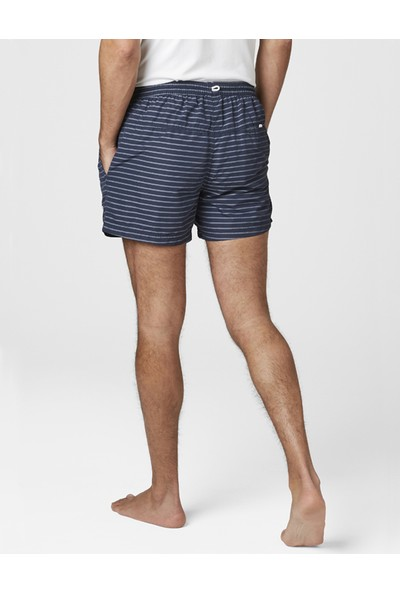Hh Colwell Trunk HHA.33970 HHA.594 Navy Stripe Şort Mayo