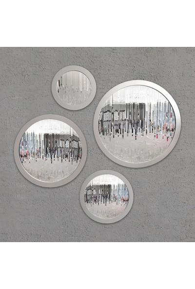 Atl Dekor Louise Yuvarlak Takım Gümüş 45,60,75,90 cm