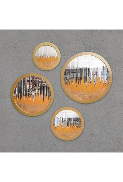 Atl Dekor Louise Yuvarlak Takım Altın 45,60,75,90 cm