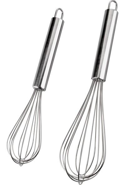 Queen'S Kitchen Çelik Lüx 2'li Çırpıcı Set