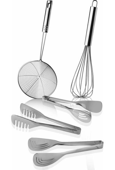 Queen'S Kitchen Çelik Lüx 5 Parça Mutfak Seti
