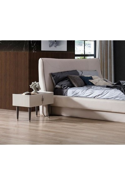Berrak Mobilya Creo Beyaz Yatak Odası Takımı
