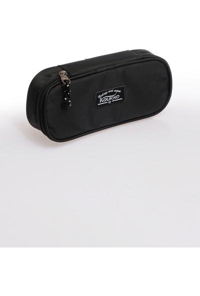Kaukko Özel Bölmeli Kalem Çantası Siyah K2070