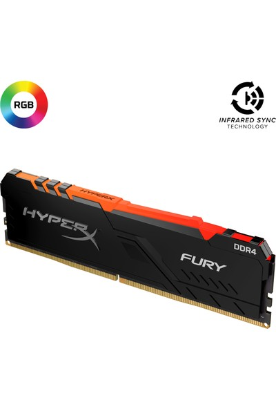 Kingston HyperX Fury RGB 8GB 3200MHz DDR4 Ram HX432C16FB3A/8