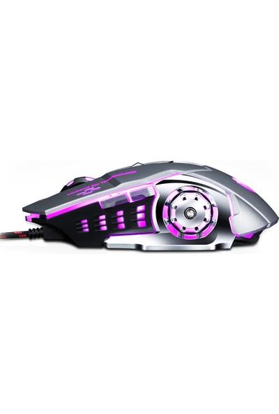 Thunder Wolf V6 Kablolu Mekanik Oyuncu Faresi (Yurt Dışından)