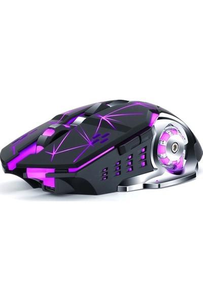Thunder Wolf Q13 Kablosuz Şarjlı Işıklı Oyuncu Faresi (Yurt Dışından)