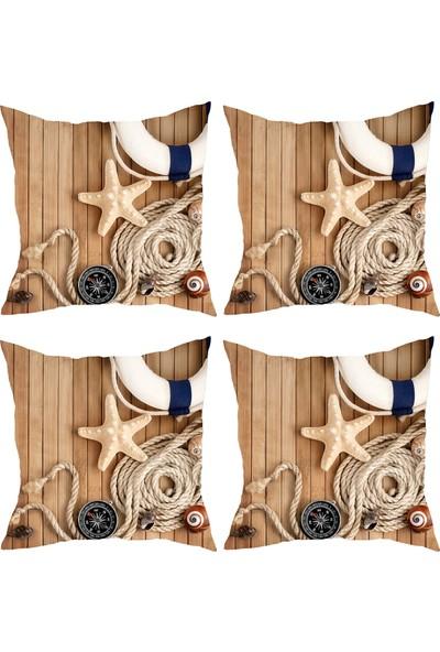 Elele Home Dekoratif Yastık Kırlent Kılıfı-YS28236-4-SET
