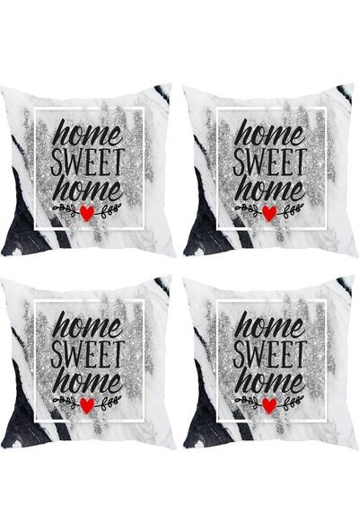 Elele Home Dekoratif Yastık Kırlent Kılıfı-YS90859-4-SET