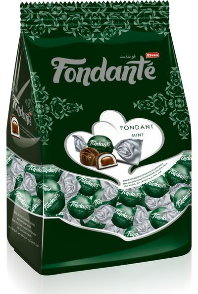 Elvan Fondante Çikolata Dolgulu Naneli Fondan 1000 Gr. (1 Poşet)