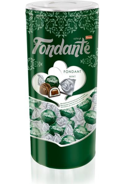 Elvan Fondante Çikolata Dolgulu Naneli Fondan 400 Gr. 1 Adet (1 Silindir Kutu)