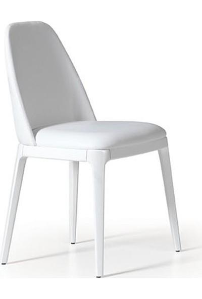 Berrak Mobilya Berrak Beyaz Sandalye (Kolsuz)