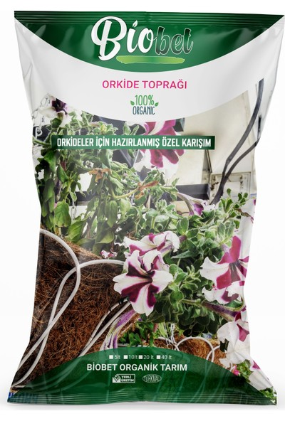 Biobet Orkide Toprağı 40 lt