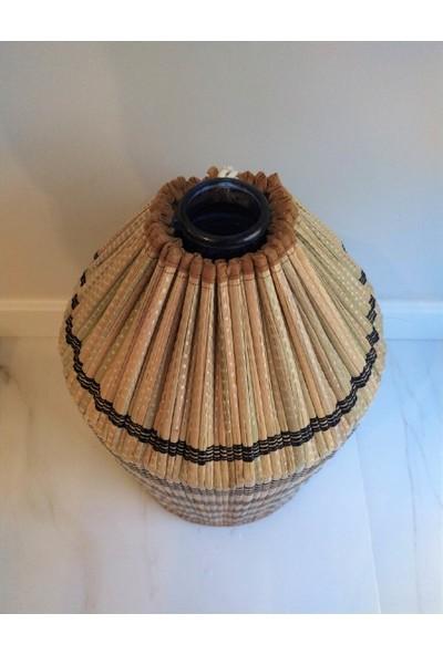 Yamamiya Dayanıklı Şık Hasır Bambu Damacana Kılıfı