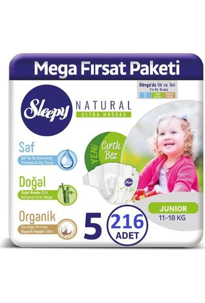 Sleepy Natural Bebek Bezi 2 Aylık Fırsat Paketi 5 Numara 216'LI 11-18 kg