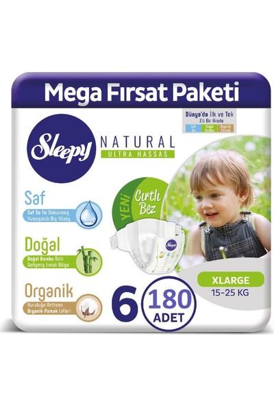 Sleepy Natural Bebek Bezi 2 Aylık Fırsat Paketi 6 Numara 180'LI 15-25 kg