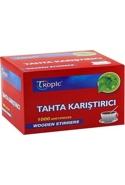 Tropic Tahta Ahşap Karıştırıcı Çay Kaşığı 1000'LI