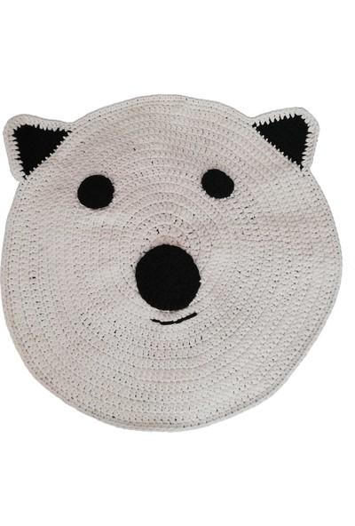 Nuh Home El Yapımı Çocuk Odası Halısı Krem Renkli Panda Halı