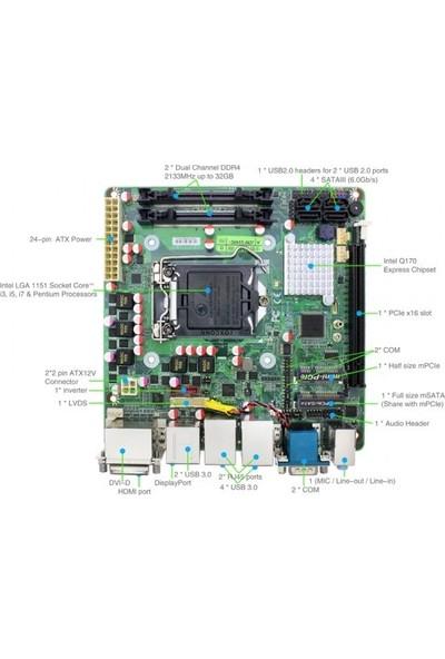 IPC JNF594 Q170 2133 MHz DDR3 1151 Pin Mini ITX Anakart