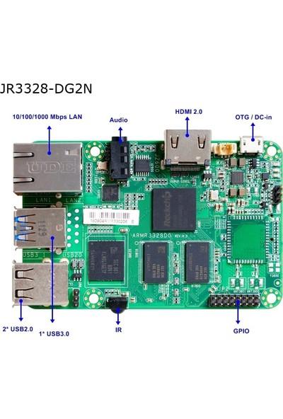 Jetway ARM-R3328-DG2N ARM 1333 MHz DDR3 Dahili İşlemci Mini ITX Anakart