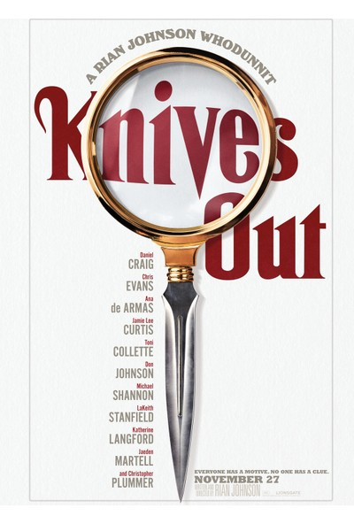 Knives Out (2019) 50 x 70 Poster