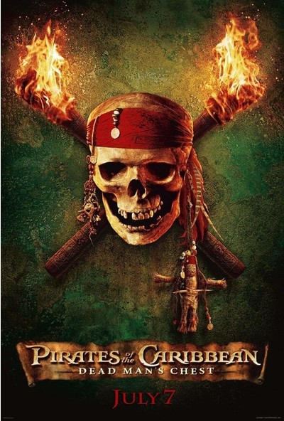 Pirates of the Caribbean Dead Man's Chest (2006) 50 x 70 Poster