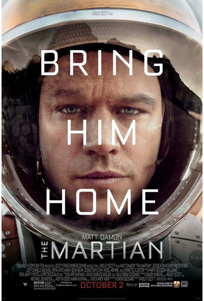 The Martian (2015) 35 x 50 Poster