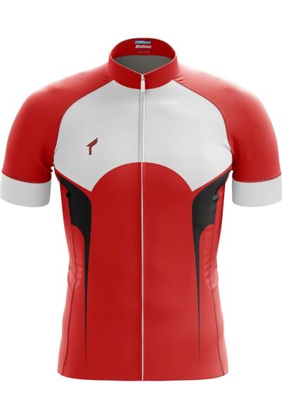 Freysport Gorge Bisiklet Forması - Kısa Kol, Kırmızı