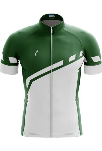 Freysport Lane Bisiklet Forması - Kısa Kol, Yeşil