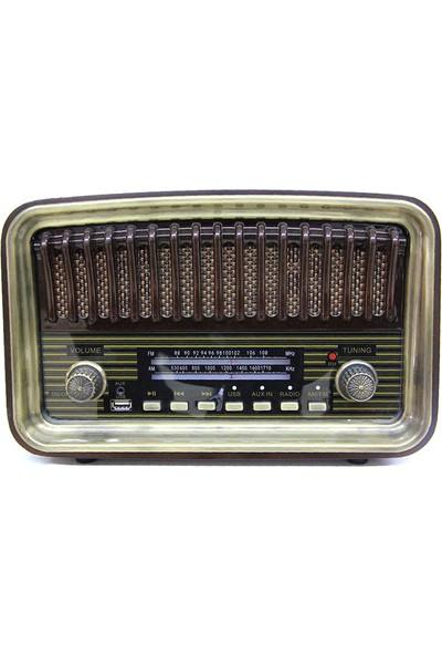 Crownwell Nostaljij Ahşap Radyo