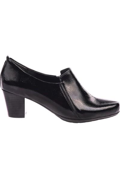 DGN 102 Kadın Küt Burun Topuklu Ayakkabı 20Y