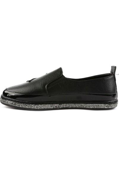 DGN 1056 Kadın Yıldız Armalı Silver Taşlı Günlük Ayakkabı 20Y