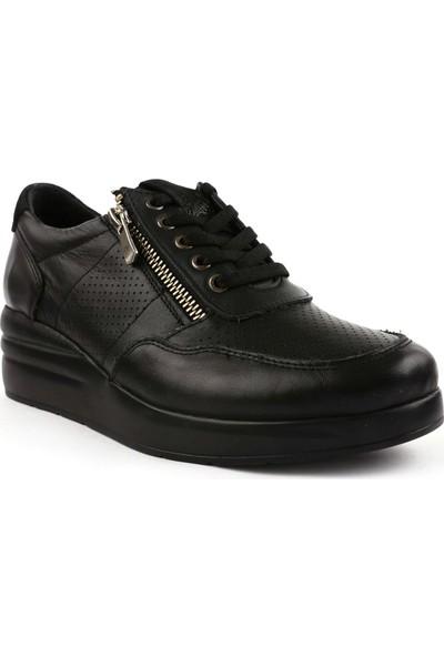 DGN 20300 Kadın Lazerli Kalın Taban Sneakers Ayakkabı 20Y