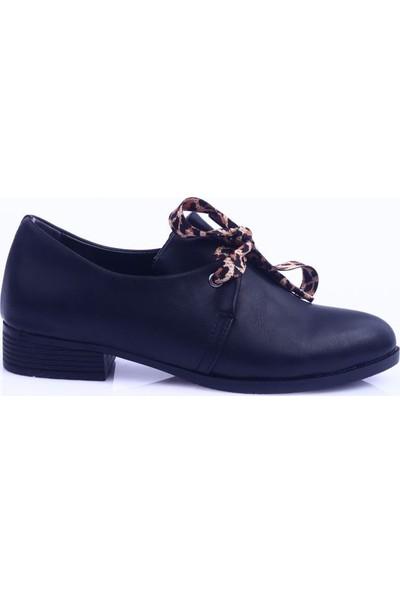 DGN 207 Kadın Sivri Burun Bağcıklı Oxford Ayakkabı 20Y
