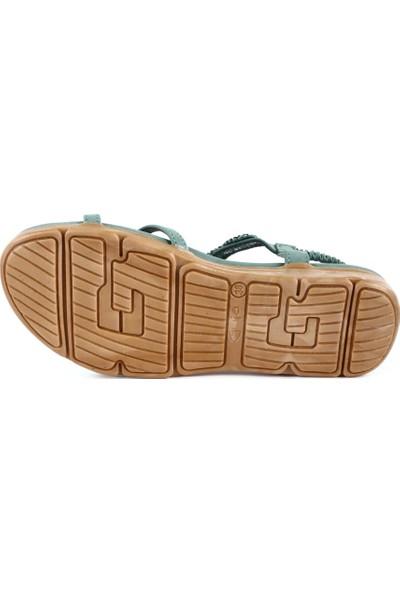 Guja 20Y150-13 Kadın Önü Çapraz Taşlı Sandalet