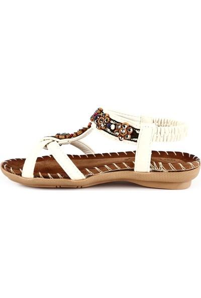 Guja 20Y154-1 Çocuk Çapraz Bant Boncuklu Sandalet