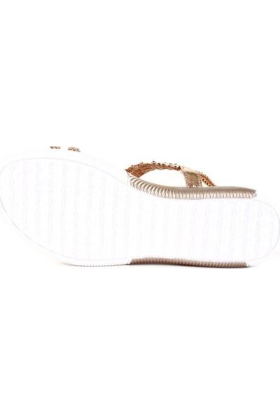 Guja 20Y232-6 Kadın Hasır Örgü Taşlı Sandalet