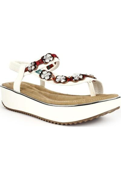 Guja 20Y237-15 Kadın Parmak Arası Kalın Taban Sandalet