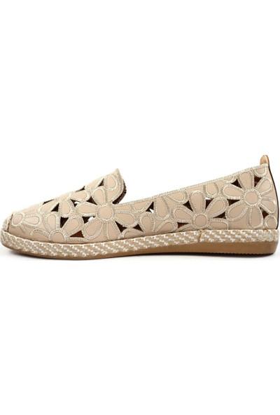 DGN 923 Kadın Çiçek Dokumalı Espadril Ayakkabı 20Y