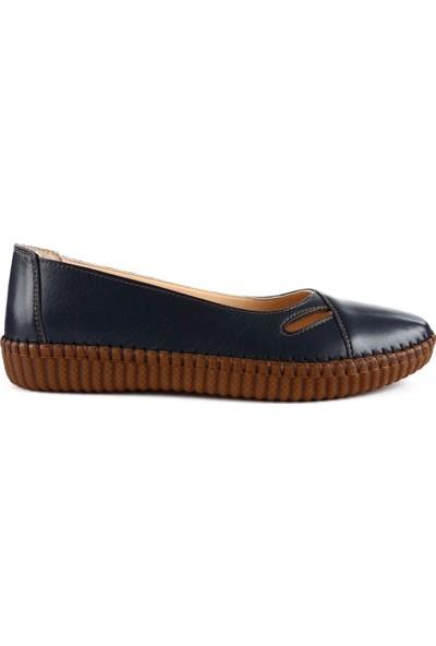 DGN P24 Kadın Soft Anatomıc Footwear Deri Babet 20Y