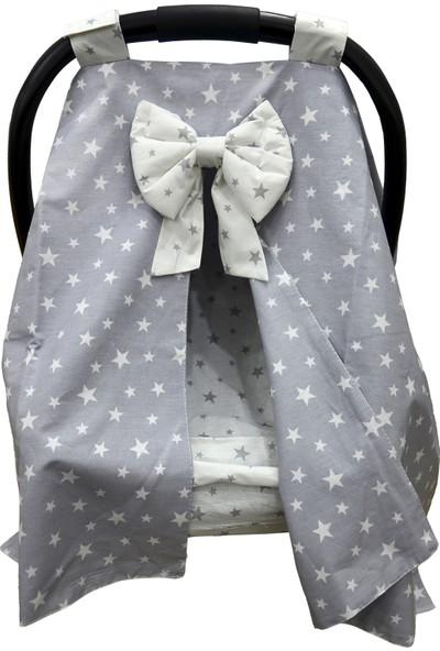 Bera Baby Gri Yıldız Desen Puset Örtüsü + Çarşafı
