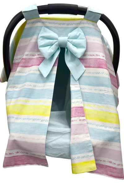 Bera Baby Rengarenk Özel Model Puset Örtüsü + Çarşafı