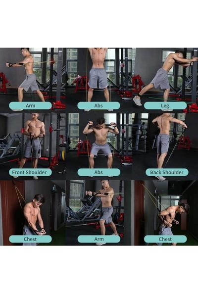 Wolfclaw Çok Fonksiyonlu Fitness - Pilates Direnç Lastiği 10 Parça