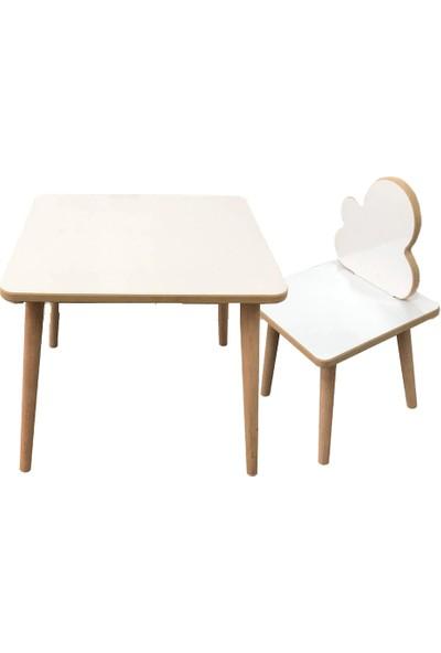 Asrimo Çocuk Masa Sandalye Takımı 1 Aktivite Oyun Masası + 1 Sandalye + Kalem + Silgi