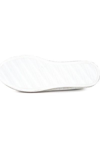 DGN 1054 Kadın Silver Taşlı Ayakkabı 20Y