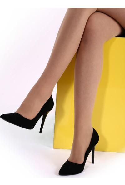 DGN 1770 Kadın Sivri Burun Parmak Dekolteli İnce Topuklu Stiletto 20Y
