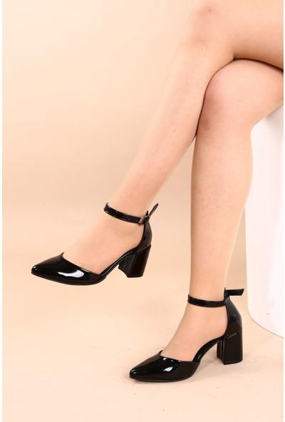 Hepfit 1942-74 Kadın Sivri Burun Parmak Dekolteli Bilekten Bağlı Ayakkabı 20Y