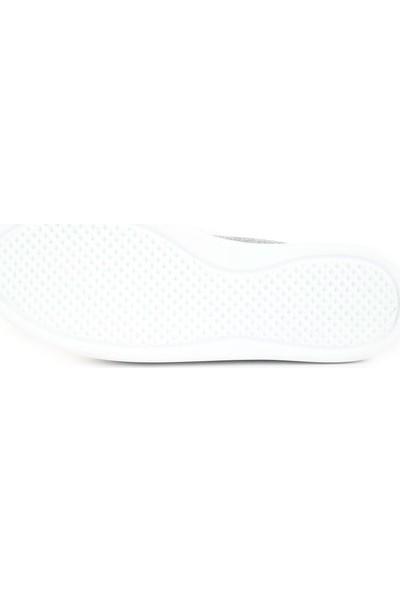 DGN 301 Kadın Üstü 2 Bant Silver Taşlı Sneakers Ayakkabı 20Y